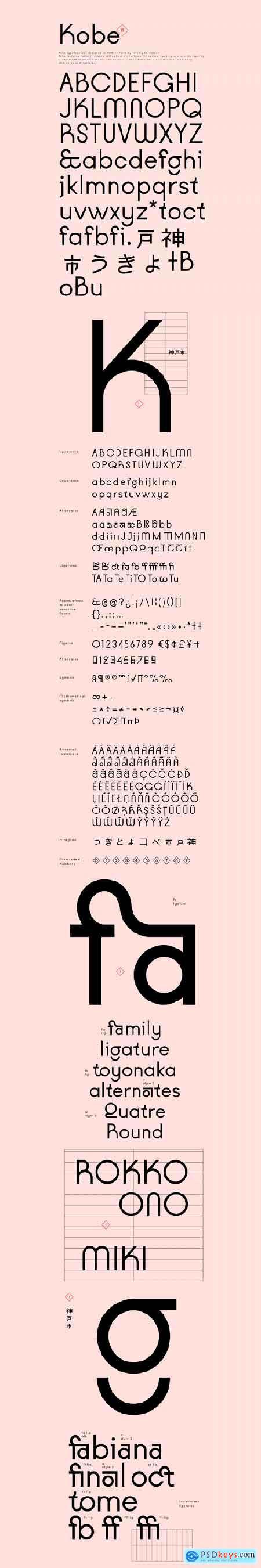 VJ Kobe Typeface