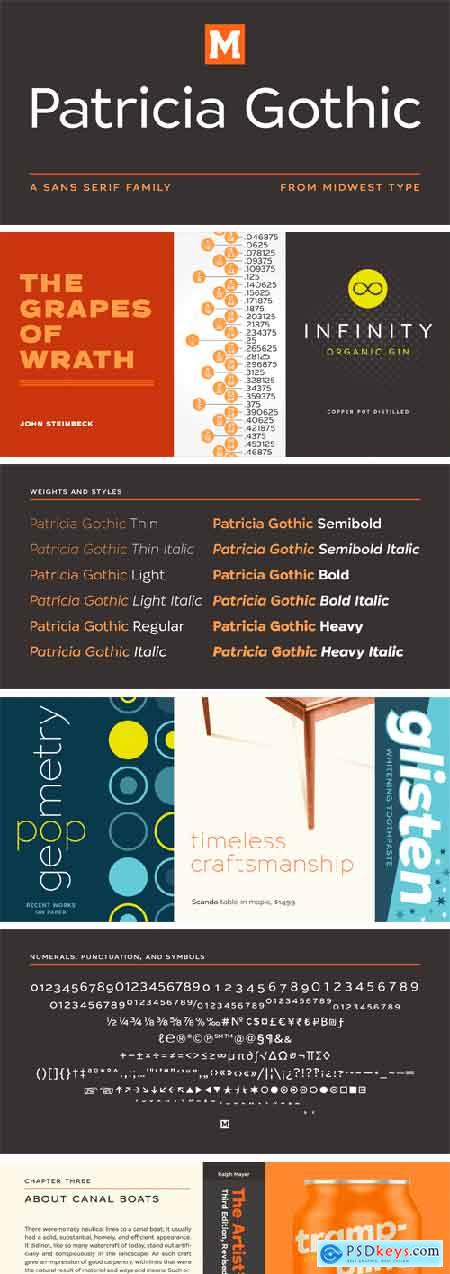 Patricia Gothic Font Family