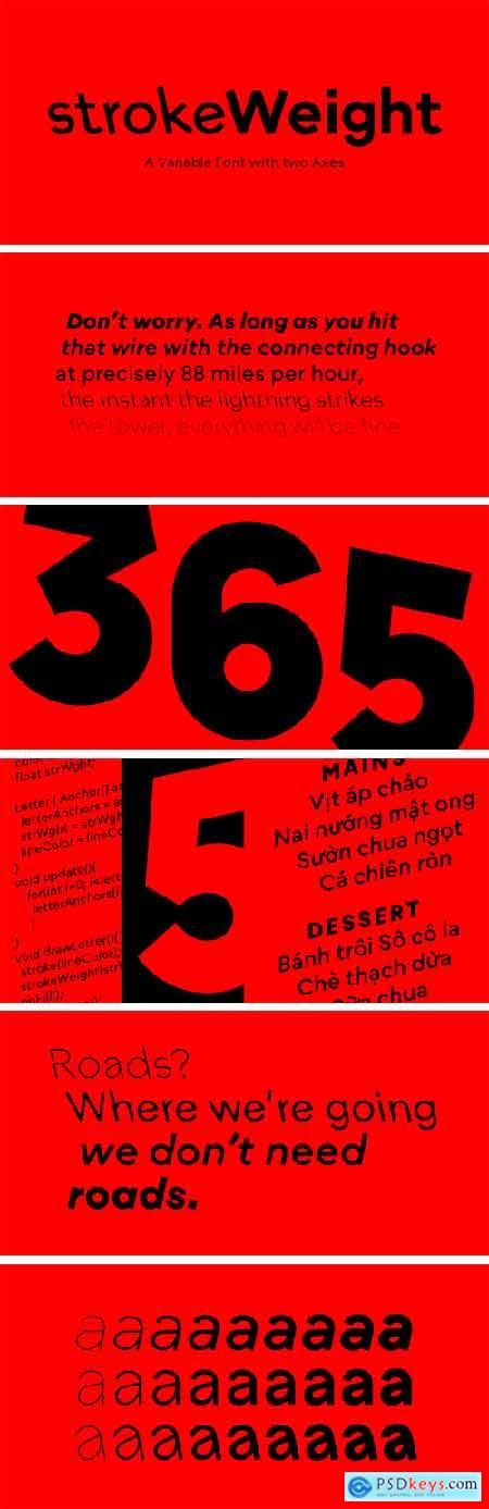 strokeWeight Font Family