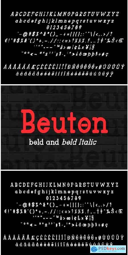 Beuton Bold Font