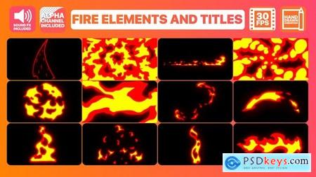 Videohive Fire Elements And Titles Free