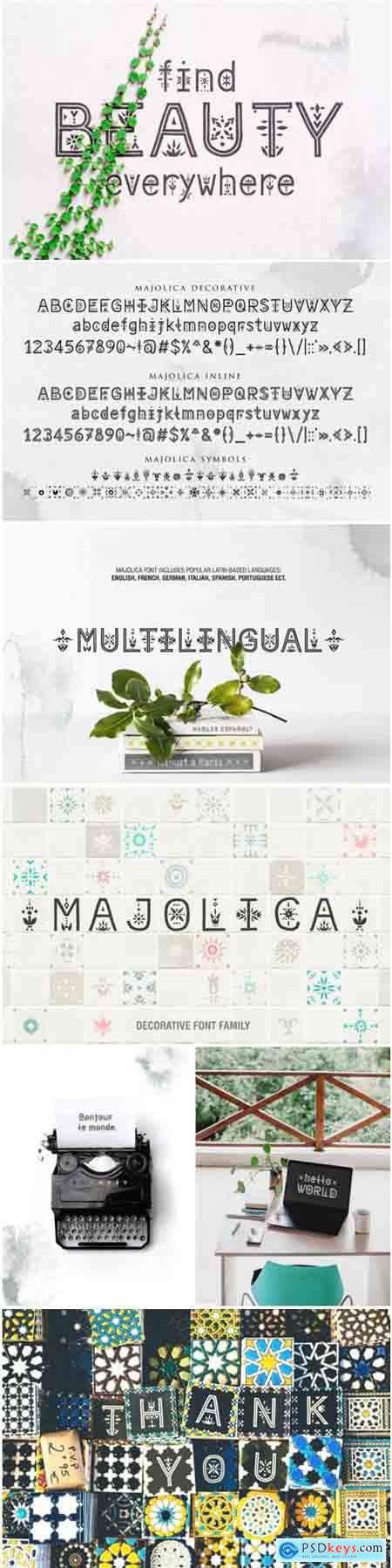 Majolica Font