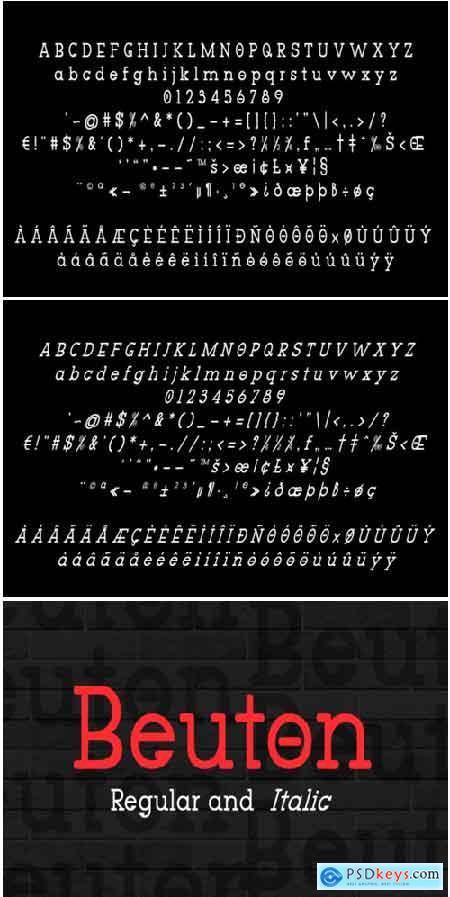 Beuton Font