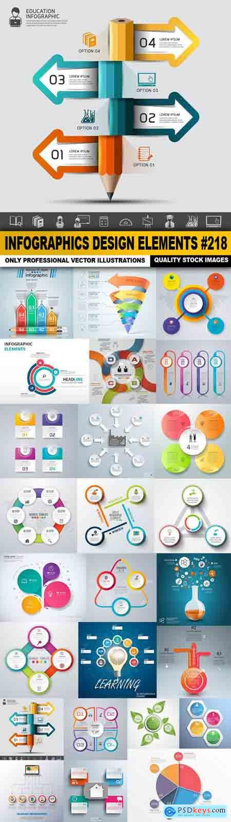 Infographics Design Elements #218 - 25 Vector