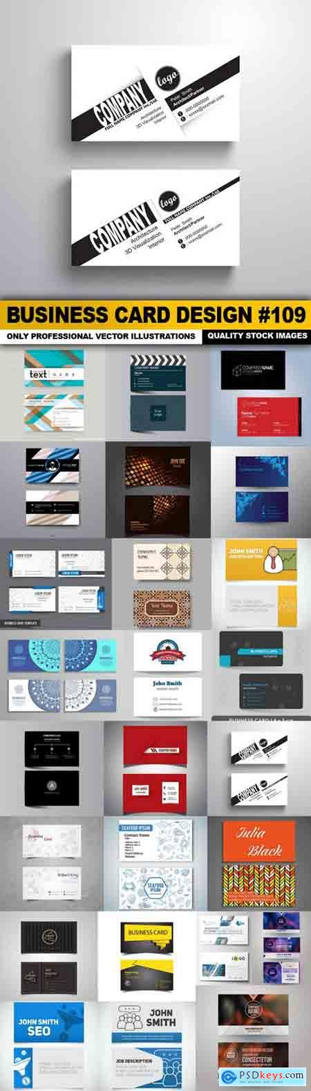Business Card Design #109 - 25 Vector