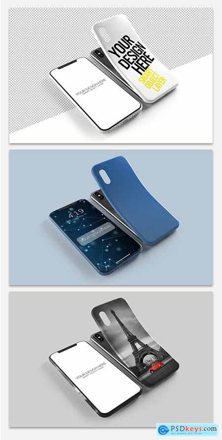 Graphicriver Smartphone Screen and Case Mockup