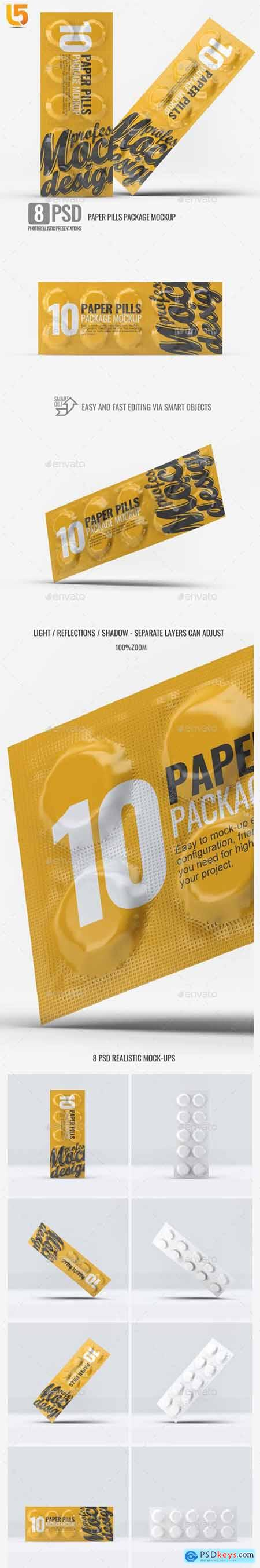 Graphicriver Paper Pills Package Mock-Up