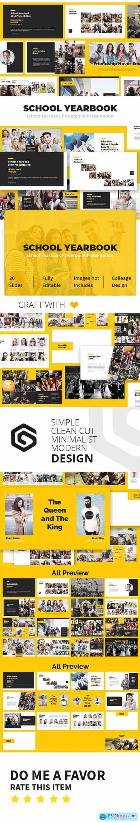 Graphicriver School Yearbook Powerpoint Presentation