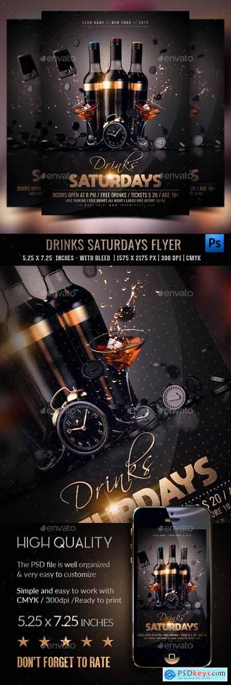 Graphicriver Drinks Saturdays