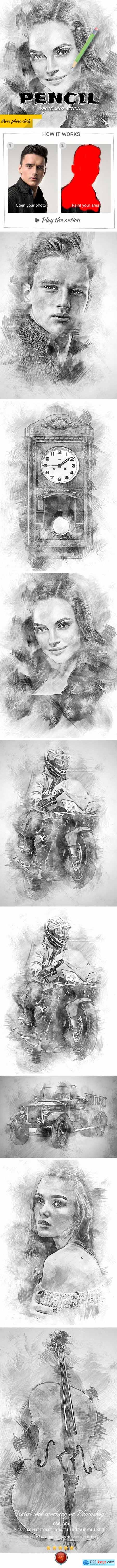 Graphicriver Pencil Photoshop Action