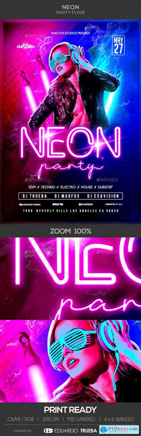 Graphicriver Neon Party Flyer