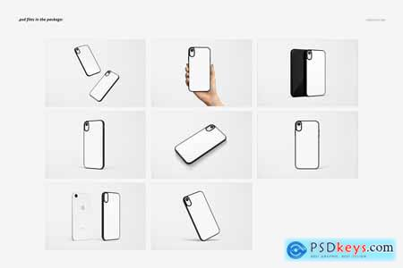 Creativemarket iPhone XR 2D Case (black) Mockup Set