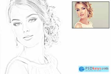 Thehungryjpeg Vector Sketch V2 Photoshop Action
