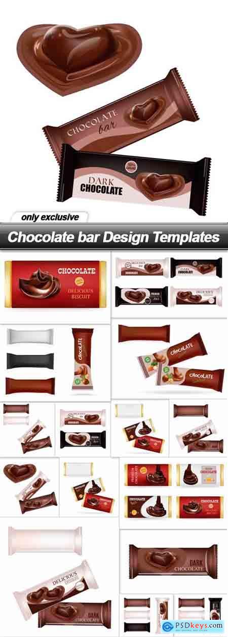 Chocolate bar Design Templates - 16 EPS