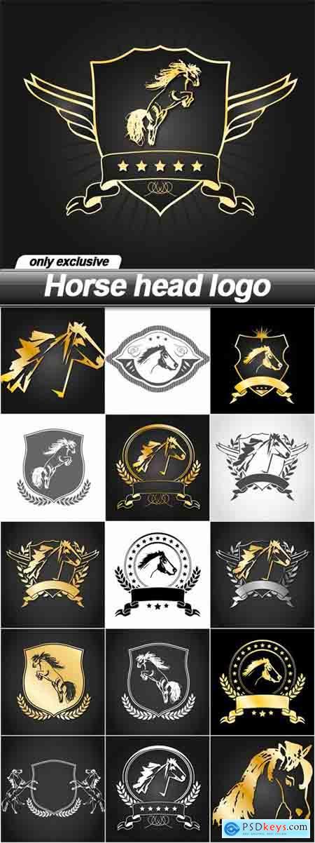 Horse head logo - 16 EPS