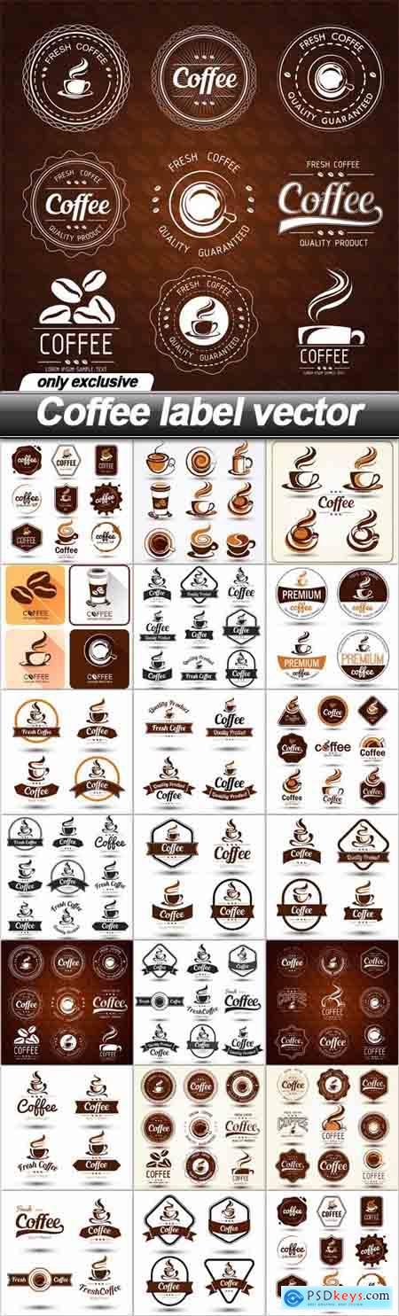 Coffee label vector - 20 EPS