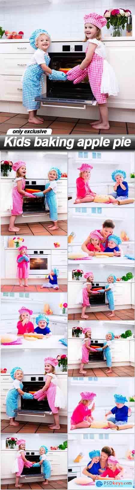 Kids baking apple pie - 11 UHQ JPEG