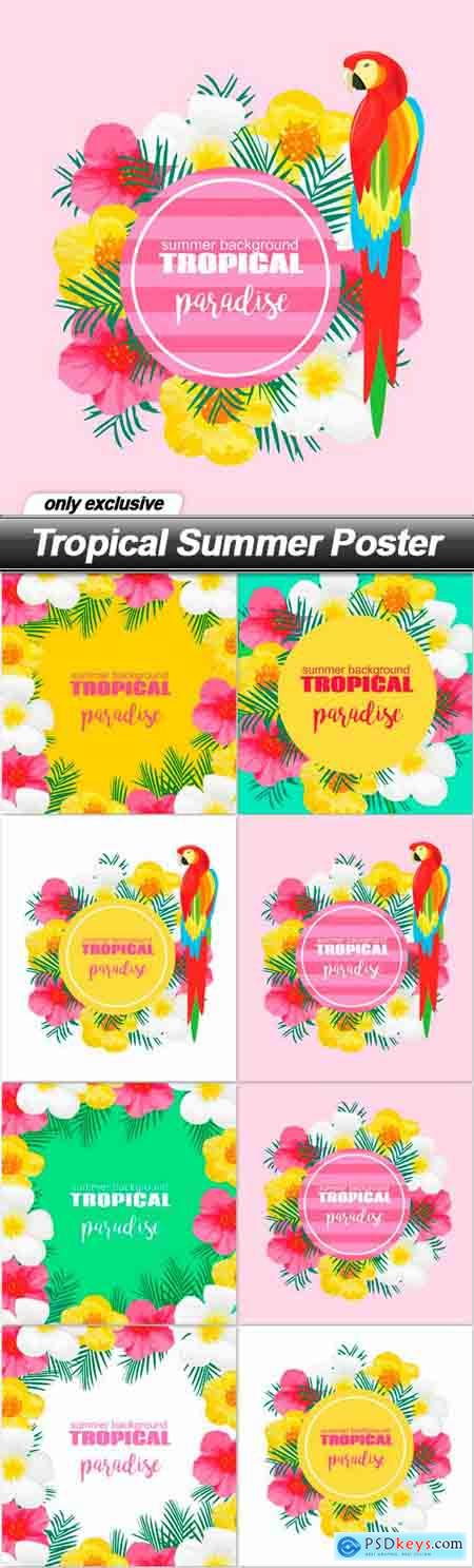 Tropical Summer Poster - 8 EPS