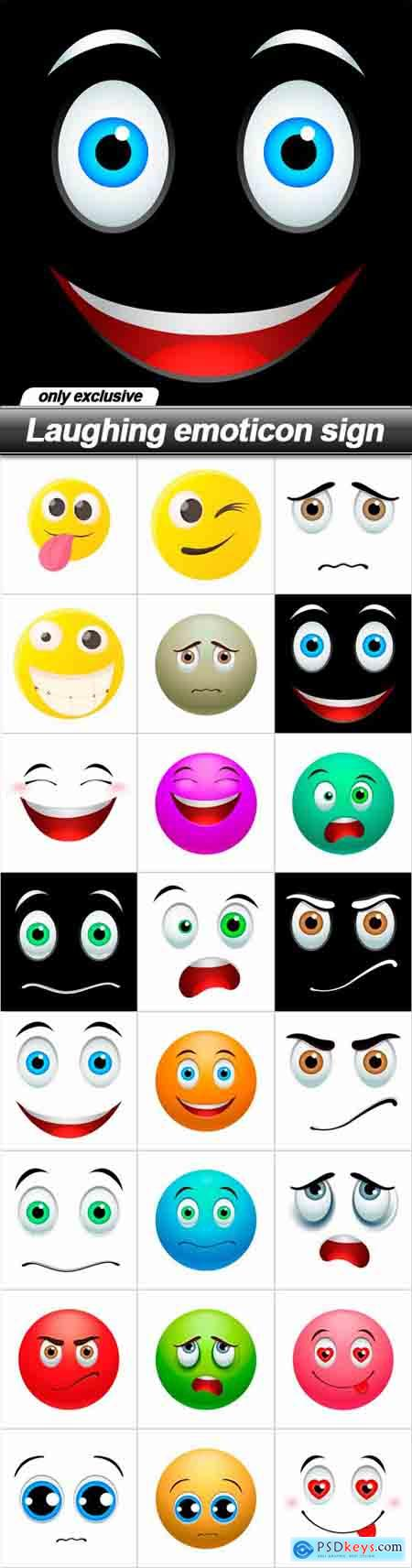 Laughing emoticon sign - 24 EPS