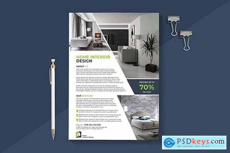 Modern Interior Flyer Template » Free Download Photoshop