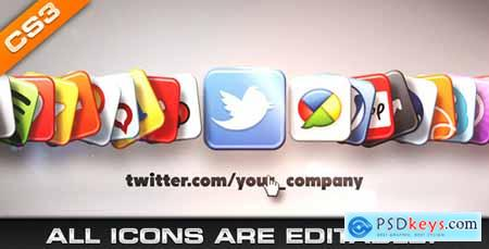 Videohive Media & Social Networks Icons Free