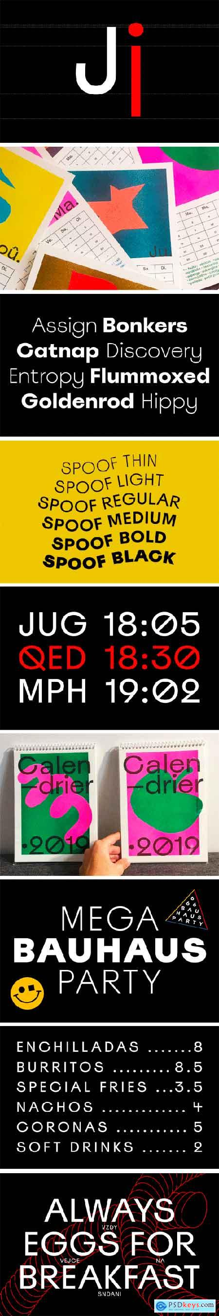 Spoof Font Family » Free Download Photoshop Vector Stock