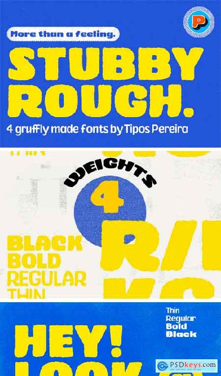 Creativemarket Stubby Rough Fonts 3560559
