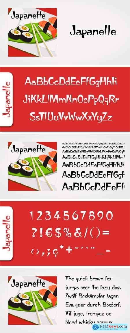 Japanette Font