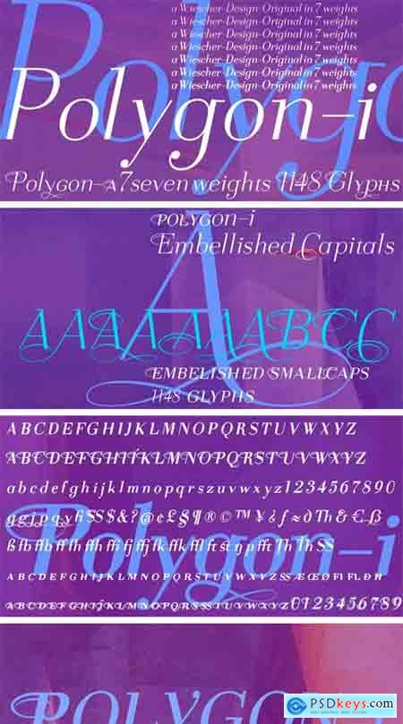 Polygon I Font Family