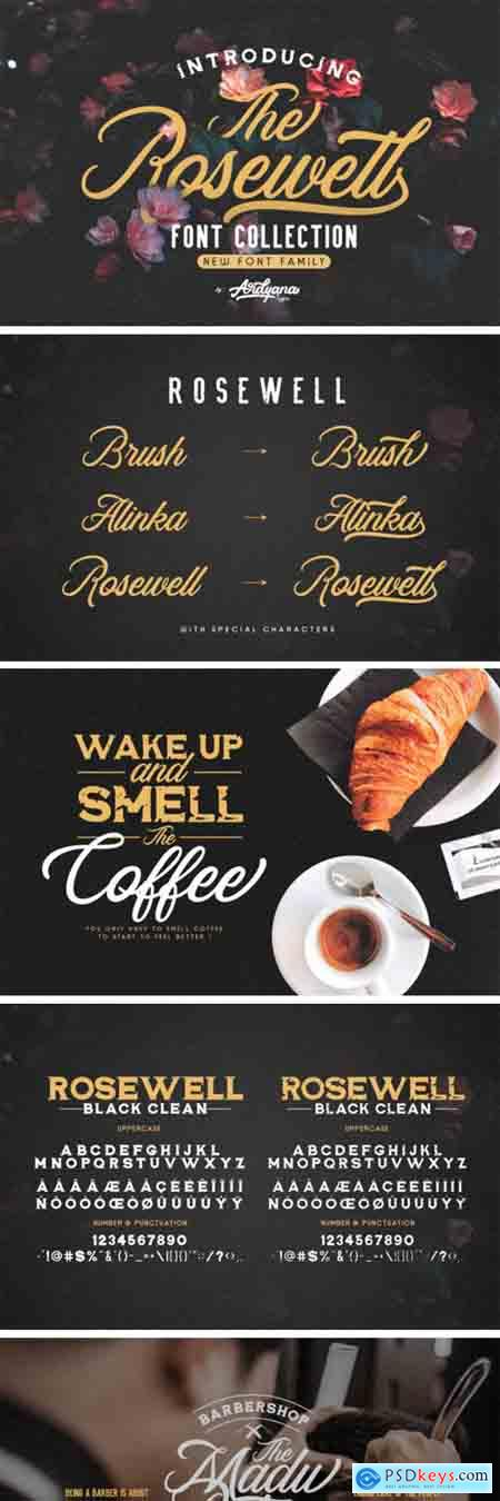 Rosewell Font Family