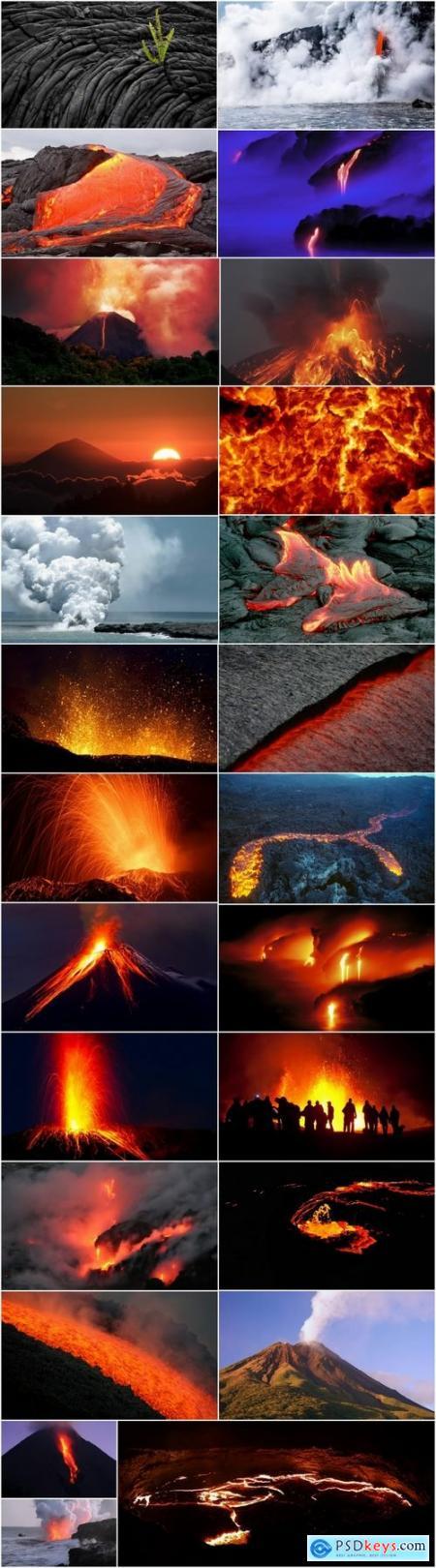 Volcano lava molten rock magma 25 HQ Jpeg