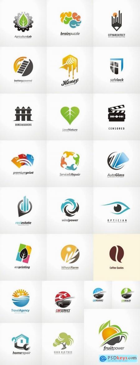 Logo icon web design element site 5-25 EPS