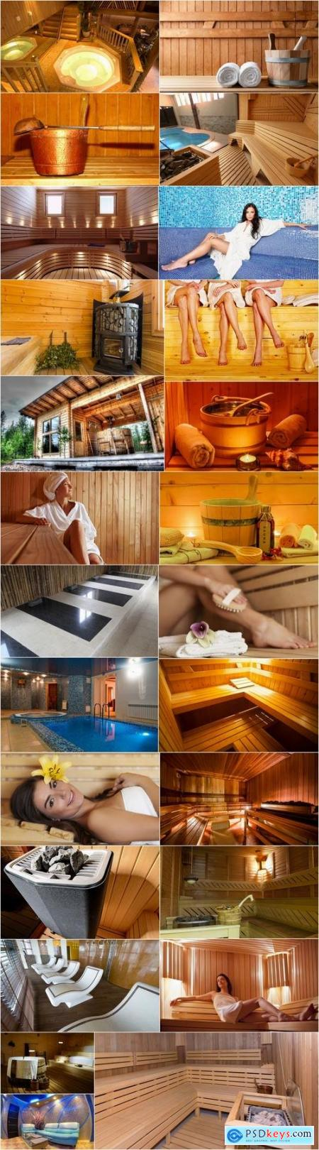 Interior sauna steam room relaxation pool 25 HQ Jpeg