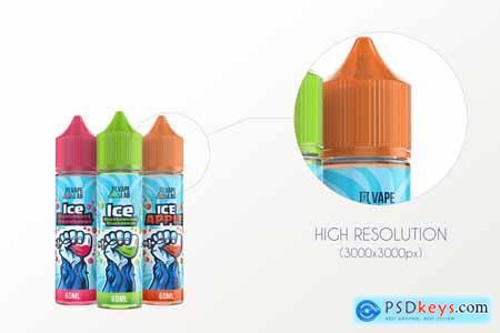 Creativemarket eLiquid Bottle Mockup v 3B Plus