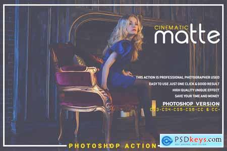 Creativemarket Cinematic Matte Photoshop Action