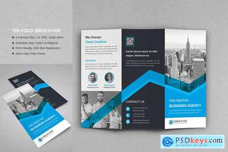 Creativemarket Corporate Tri-Fold Brochure