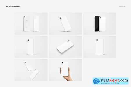 Creativemarket iPhone XR 2D Case (white) Mockup Set