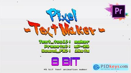 Videohive Arcade Text Maker 8bit Glitch Titles For Premiere Pro Mogrt Free