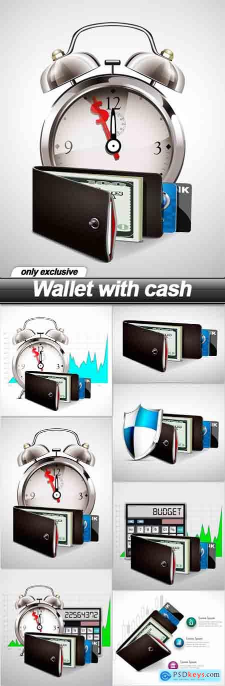 Wallet with cash - 7 EPS