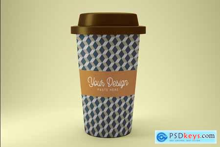 Creativemarket Coffe Cup Mockup PSD