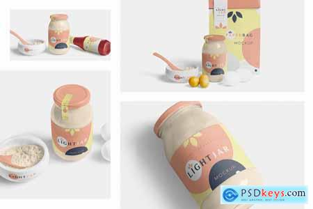 Creativemarket Glass Jar mockups