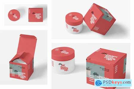 Creativemarket Cosmetic Jar & Box Mockups