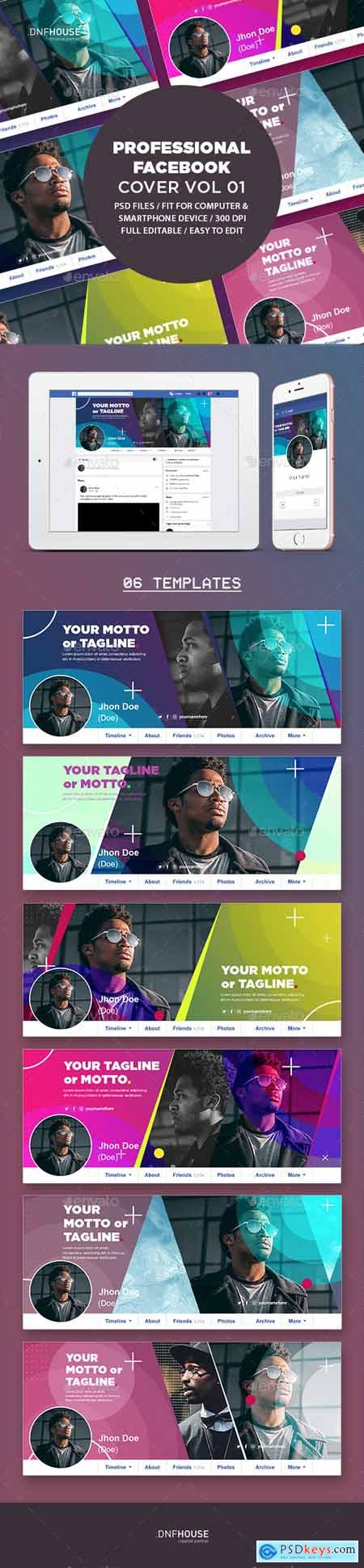 Graphicriver Professional Facebook Cover Vol 01