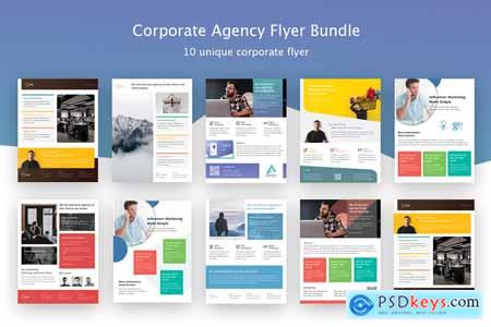 Creativemarket Corporate Agency Poster Flyer Bundle