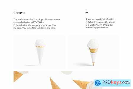 Creativemarket Ice Cream Cone Mockup