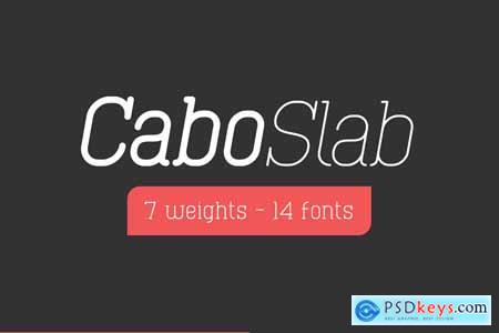 Creativemarket Cabo Rounded and Slab - Font Duo