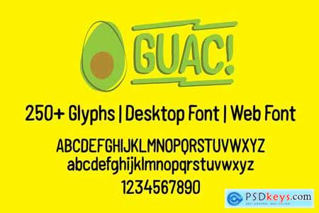 Creativemarket GUAC! Handmade Font For A Good Time
