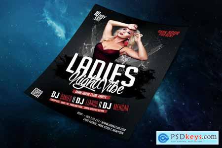 Thehungryjpeg Ladies Night Vibe Club Template