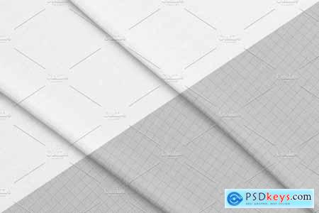 Creativemarket Cotton fabric PSD object mockup