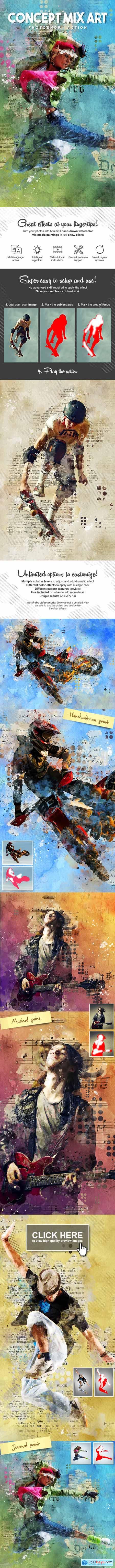 Graphicriver Concept Mix Art Photoshop Action